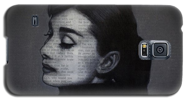 Art In The News 98-audrey Hepburn Galaxy S5 Case