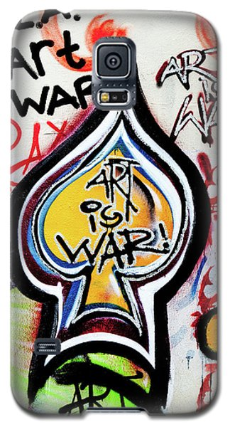 Galaxy S5 Case featuring the photograph Art Is War by Art Block Collections