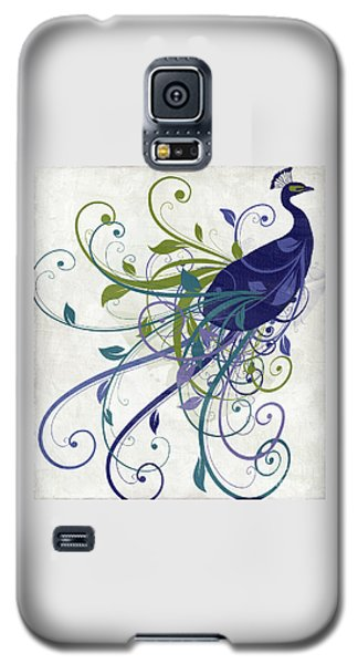 Peacock Galaxy S5 Case - Art Nouveau Peacock I by Mindy Sommers