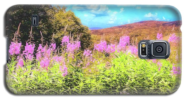 Art Photo Of Vermont Rolling Hills With Pink Flowers In The Foreground Galaxy S5 Case
