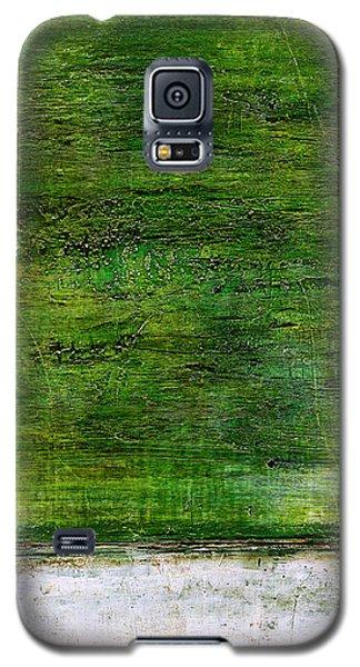 Art Print Green White Galaxy S5 Case