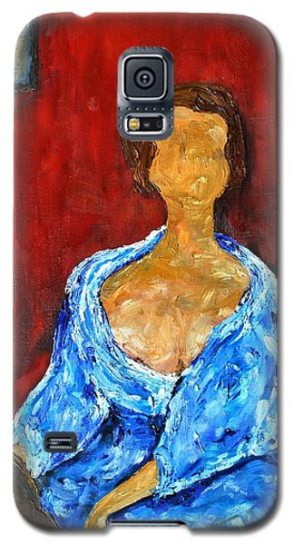 Galaxy S5 Case featuring the painting Art Study by Reina Resto