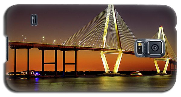 Arthur Ravenel Bridge At Night Galaxy S5 Case