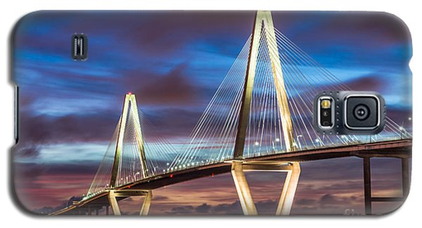 Arthur Ravenel Bridge At Night Galaxy S5 Case