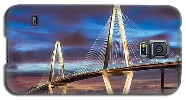 Arthur Ravenel Bridge At Night Galaxy S5 Case by Jennifer White