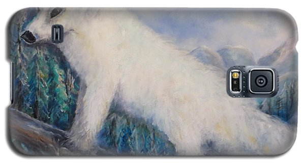 Galaxy S5 Case featuring the painting Artic Fox by Bernadette Krupa