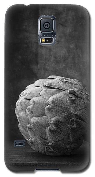 Artichoke Black And White Still Life Galaxy S5 Case by Edward Fielding