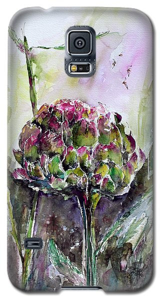 Artichoke Watercolor And Ink By Ginette Galaxy S5 Case by Ginette Callaway