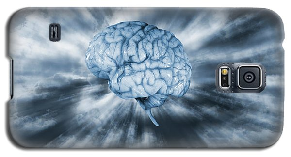 Galaxy S5 Case featuring the photograph Artificial Intelligence With Human Brain by Christian Lagereek