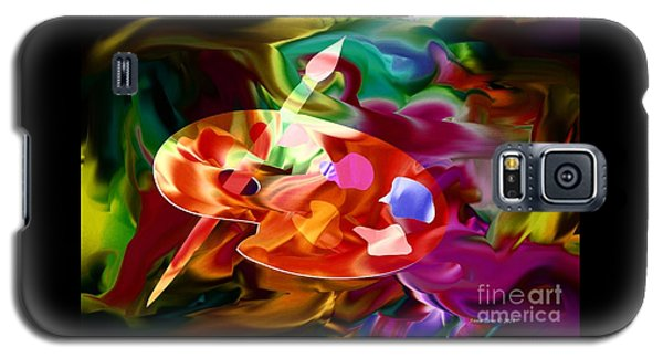 Artist Palette In Neon Colors Galaxy S5 Case by Annie Zeno