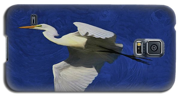 Galaxy S5 Case featuring the painting Artistic Egret by Deborah Benoit