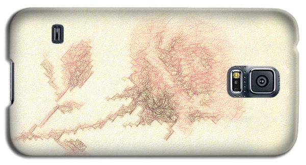 Galaxy S5 Case featuring the photograph Artistic Etched Rose by Linda Phelps