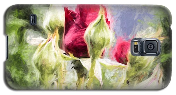 Artistic Rose And Buds Galaxy S5 Case