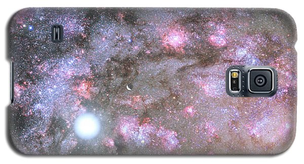 Galaxy S5 Case featuring the digital art Artist's View Of A Dense Galaxy Core Forming by Nasa