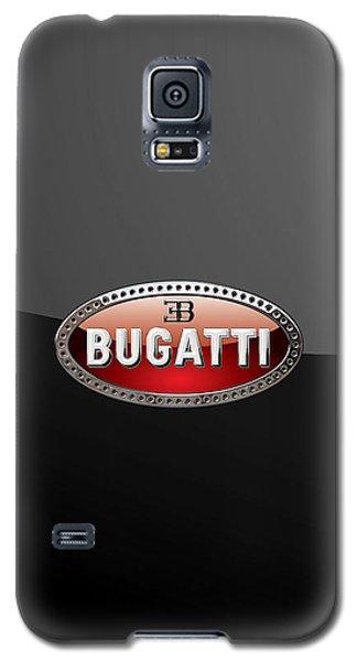 Bugatti - 3d Badge On Black Galaxy S5 Case by Serge Averbukh