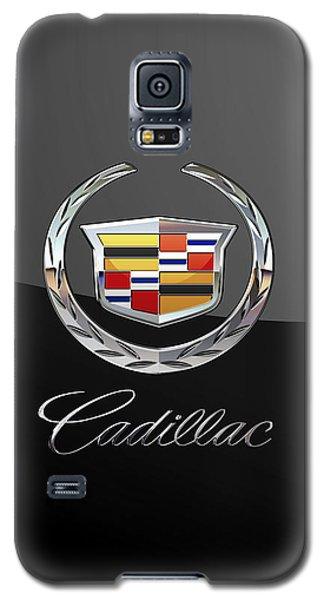 Cadillac - 3d Badge On Black Galaxy S5 Case by Serge Averbukh