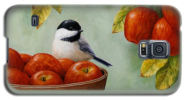 Apple Chickadee Greeting Card 1 Galaxy S5 Case by Crista Forest