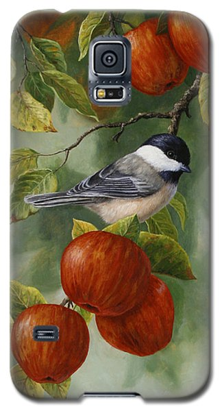 Apple Chickadee Greeting Card 2 Galaxy S5 Case