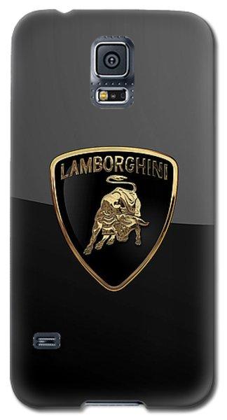 Lamborghini - 3d Badge On Black Galaxy S5 Case by Serge Averbukh