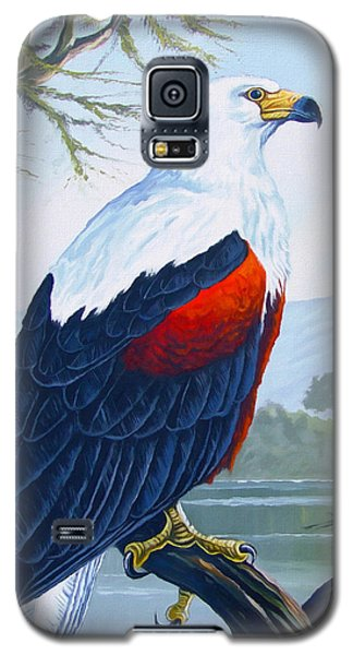 Galaxy S5 Case featuring the painting African Fish Eagle by Anthony Mwangi