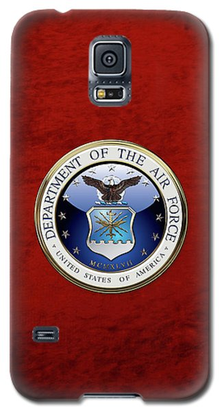 U. S.  Air Force  -  U S A F Emblem Over Red Velvet Galaxy S5 Case