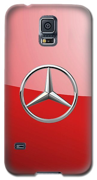 Mercedes-benz - 3d Badge On Red Galaxy S5 Case by Serge Averbukh