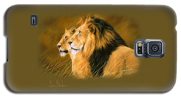 Lion Galaxy S5 Case - Side By Side by Lucie Bilodeau