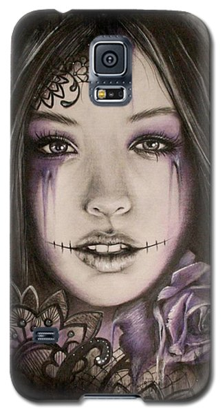 Galaxy S5 Case featuring the drawing Lithium by Sheena Pike