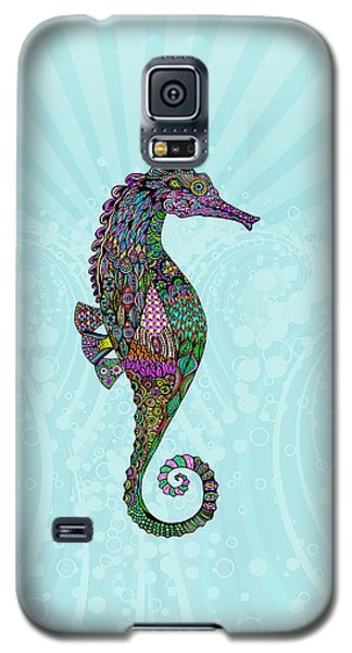Galaxy S5 Case featuring the drawing Electric Lady Seahorse  by Tammy Wetzel