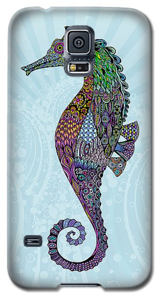 Galaxy S5 Case featuring the drawing Electric Gentleman Seahorse by Tammy Wetzel