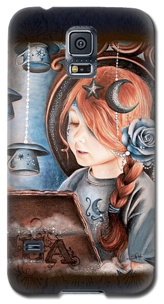 Galaxy S5 Case featuring the drawing Tea In The Moonlight by Sheena Pike
