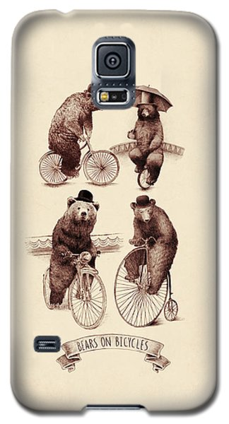 Bears On Bicycles Galaxy S5 Case by Eric Fan