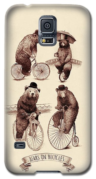 Bears On Bicycles Galaxy S5 Case