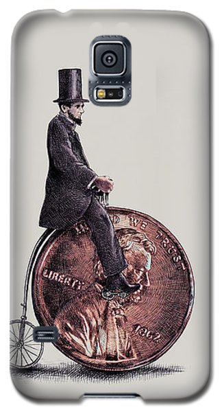 Transportation Galaxy S5 Case - Penny Farthing by Eric Fan
