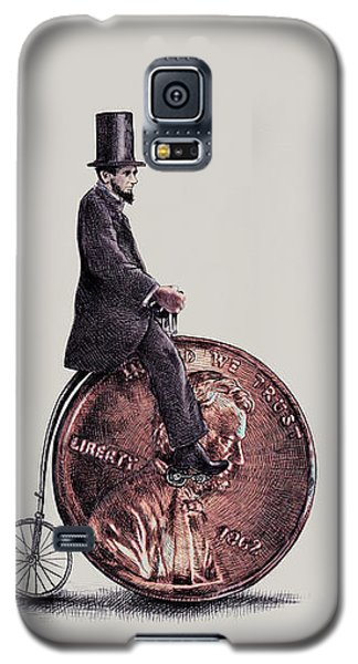 Transportation Galaxy S5 Case - Penny Farthing by Eric Fan