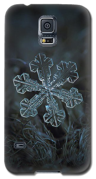 Galaxy S5 Case featuring the photograph Snowflake Photo - Vega by Alexey Kljatov