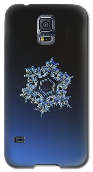 Galaxy S5 Case featuring the photograph Snowflake Photo - Spark by Alexey Kljatov