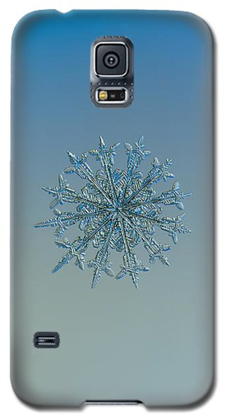 Galaxy S5 Case featuring the photograph Snowflake Photo - Twelve Months by Alexey Kljatov