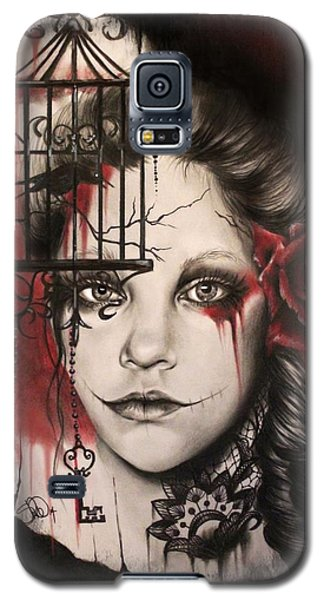 Galaxy S5 Case featuring the mixed media Inner Demons  by Sheena Pike