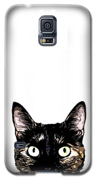 Peeking Cat Galaxy S5 Case