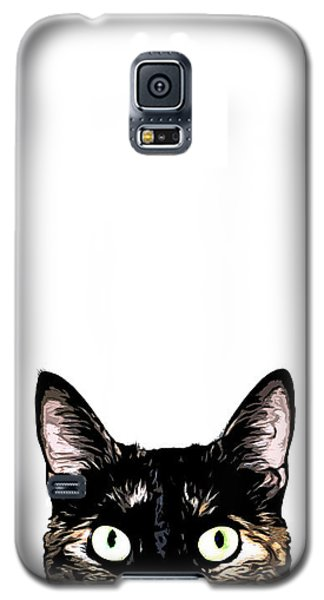 Cats Galaxy S5 Case - Peeking Cat by Nicklas Gustafsson