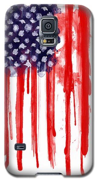 Watercolor Galaxy S5 Case - American Spatter Flag by Nicklas Gustafsson