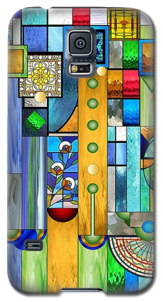 Art Deco Stained Glass 1 Galaxy S5 Case