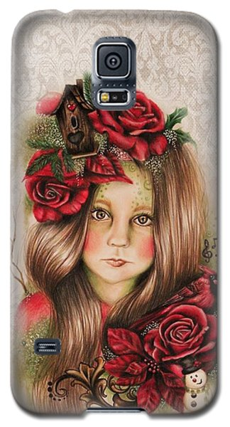 Galaxy S5 Case featuring the drawing Merry by Sheena Pike