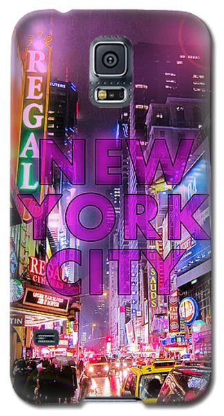 Times Square Galaxy S5 Case - New York City - Color by Nicklas Gustafsson