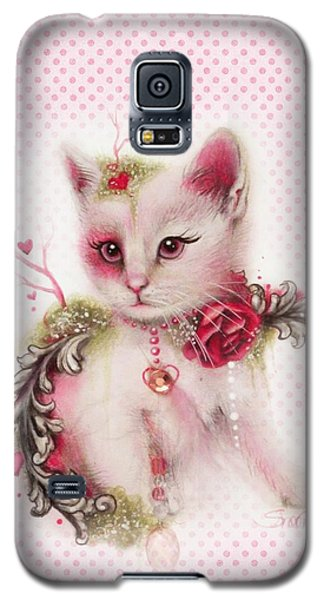 Galaxy S5 Case featuring the drawing Love Is In The Air by Sheena Pike