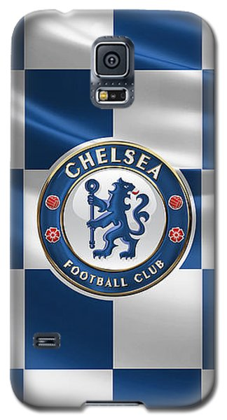 Chelsea F C - 3 D Badge Over Flag Galaxy S5 Case