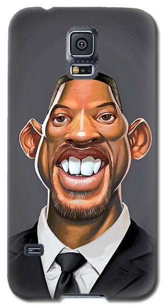 Galaxy S5 Case featuring the drawing Celebrity Sunday - Will Smith by Rob Snow