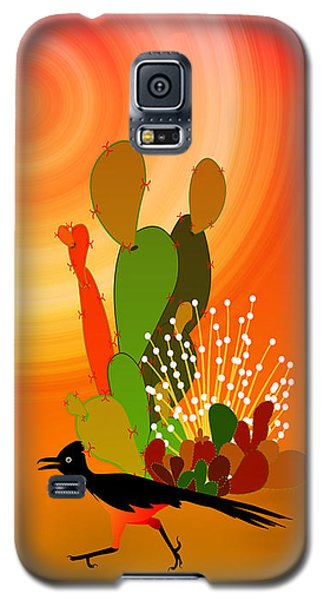 Roadrunner Sunrise Galaxy S5 Case by Methune Hively