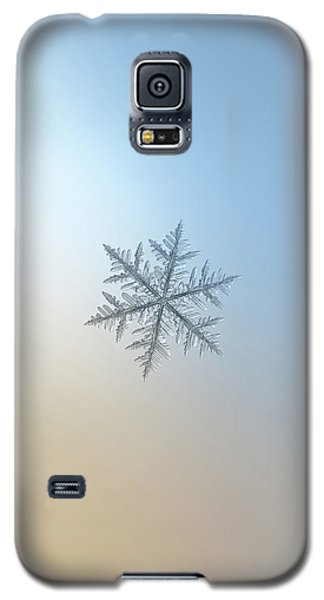Galaxy S5 Case featuring the photograph Snowflake Photo - Silverware by Alexey Kljatov